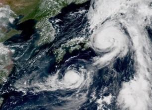 Weather pounding Japan