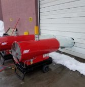 Diesel-fired Hotsy Heater helps with snow removal