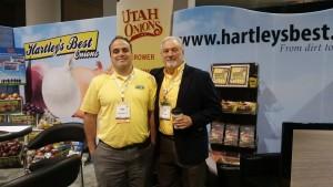 Utah Onions Owner, Shawn Hartley with Robert Alven of Utah