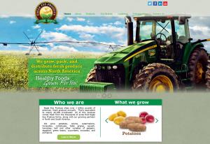 Screenshot of Eagle Eye Produce 's new website