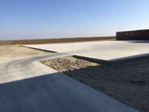 New cement poured at Telesis.  Photo Courtesy of Danny Garcia